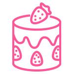 modern cake icon